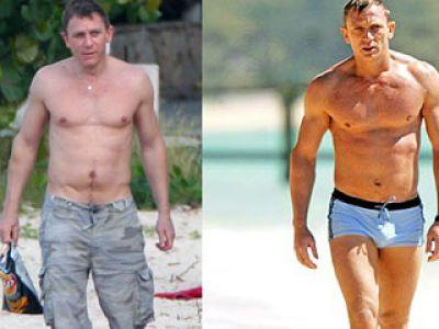 Daniel Craig przed i po retuszu