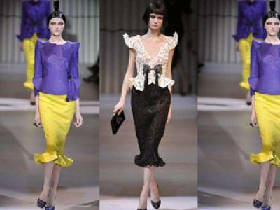 Giorgio Armani moda wiosna / lato 2009