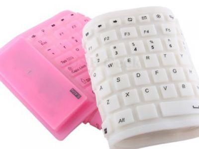 Silikonowa, świecąca klawiatura