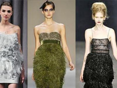 Pióra - Bill Blass, Zara oraz H&M – moda 2009
