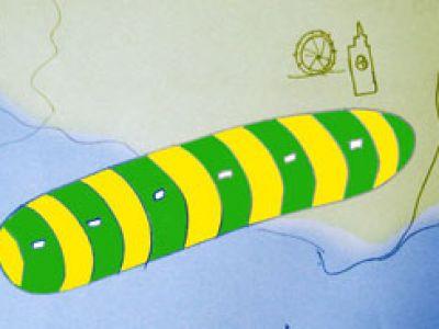 Gigantyczne UFO nad kanałem La Manche