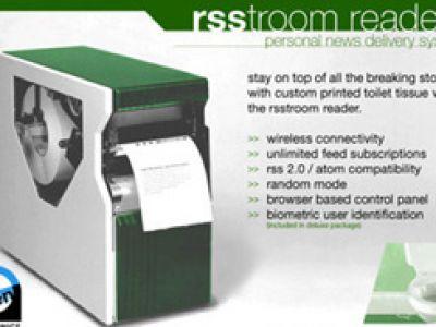 Czytnik RSS drukuje informacje na papierze toaletowym