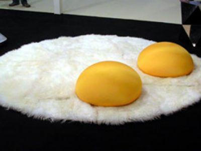 Dywan na bazie... jajek