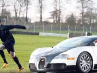 Ronaldo szybszy od Bugatti?