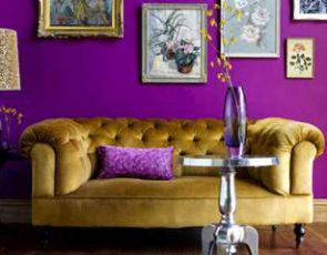 Fioletowe wnętrze