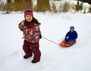 Nasze dzieci zimą -