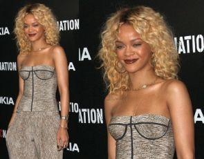 Rihanna w stylizacji Bottegi Venety