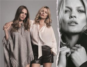 Kate Moss i Cara Delevingne w kampanii Mango