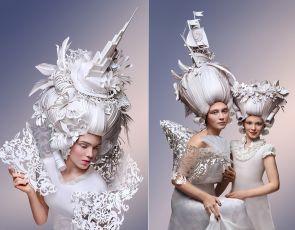 Luksusowa peruka z papieru