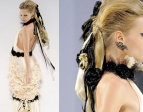 Czarne sukienki ślubne od Chanel